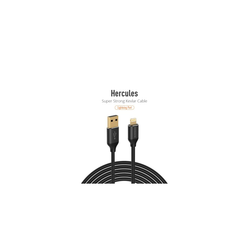 Riversong Lightining USB 2.4A, 1 Meter Charging Cable | Black |