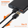 Riversong Rise10 10,000mAh 2.4A Fast Charging Power Bank | Black |
