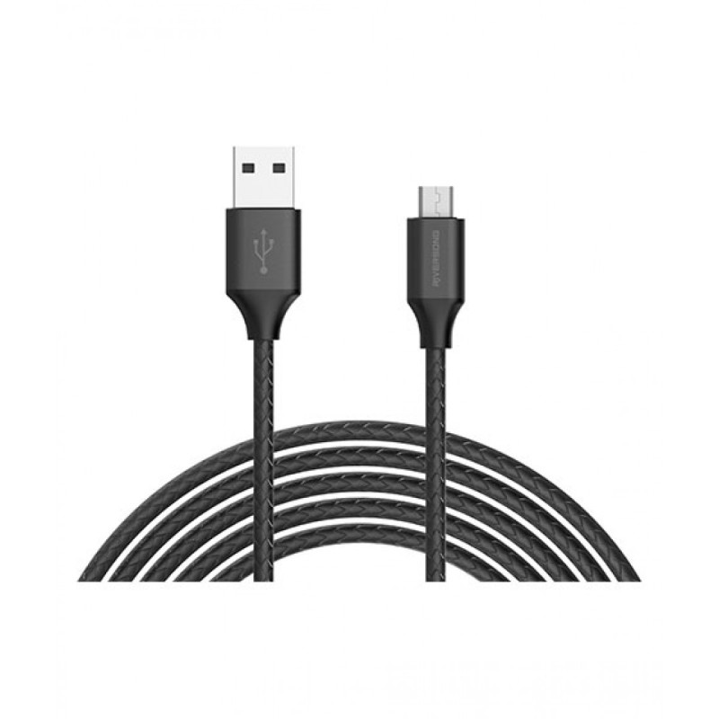 Riversong Superline Micro USB 2.4A, 1 Meter Charging Cable | Black |