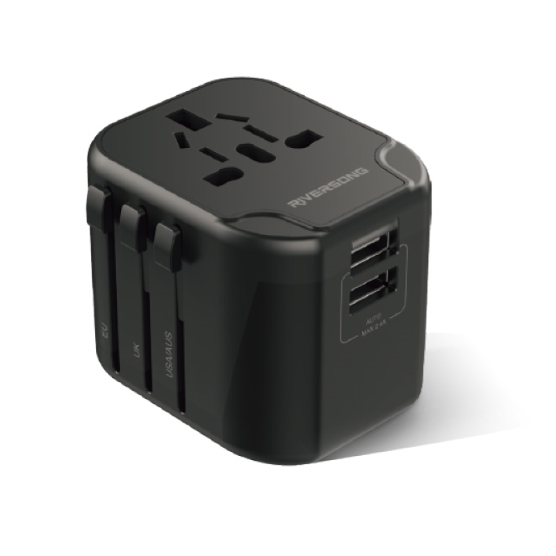 Riversong TravelKub P2 Universal Adapter Black (AD38)