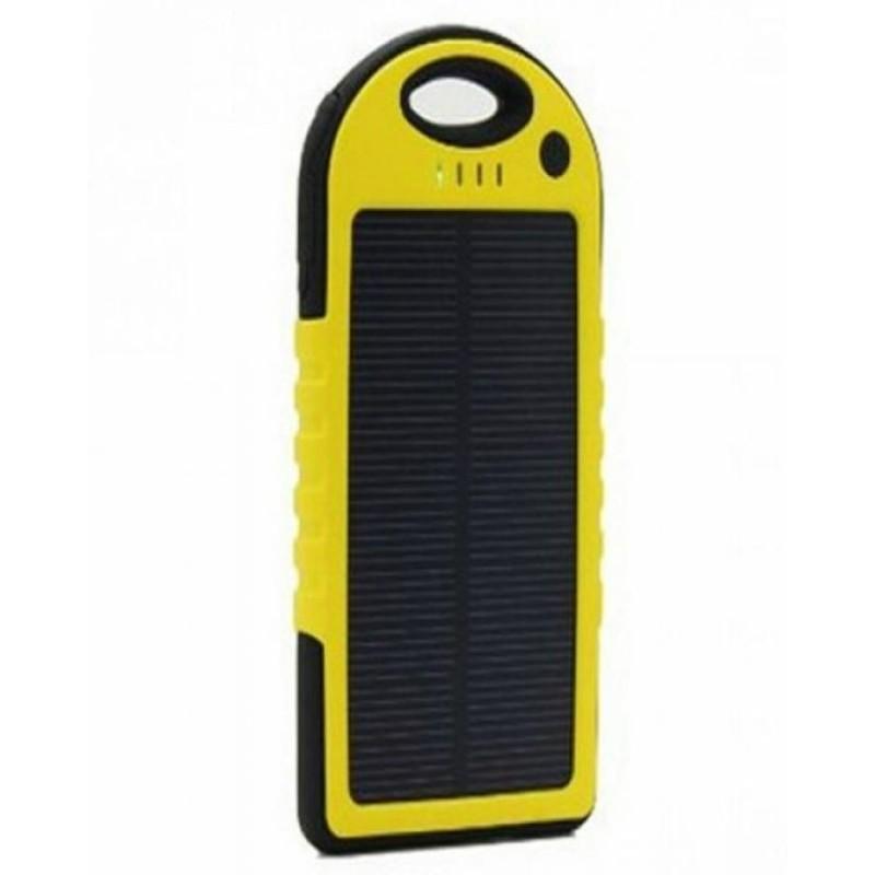Solar Power Bank - 10000 mAh - Yellow & Black