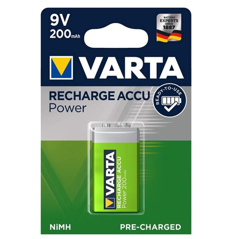 Varta 9V 210mAh Rechargeable Battery (Made In Germany)