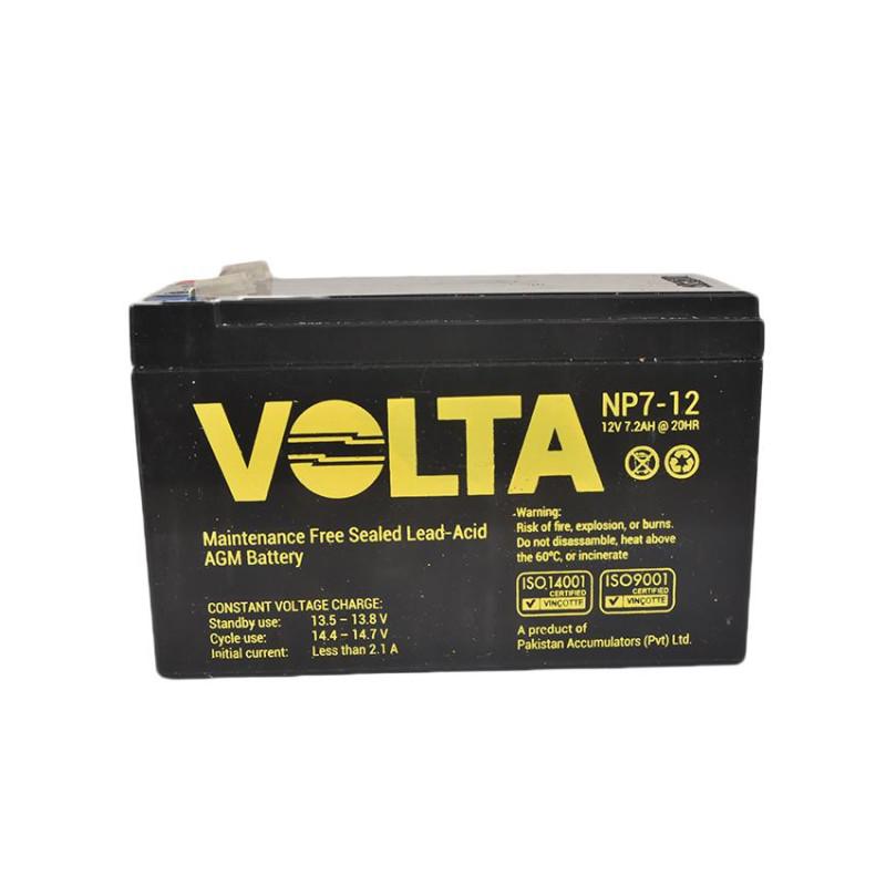 Volta 12V 7.2A NP7-12 Lead Acid Battery