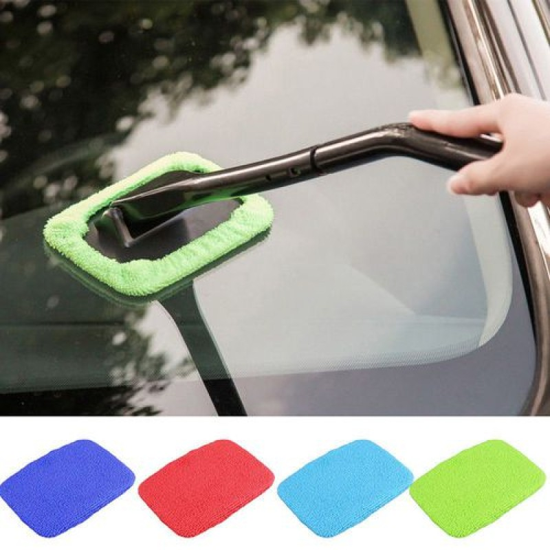 Windshield Cleaner with Microfiber Cloth Handle