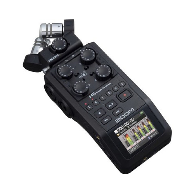 Zoom H6 6-Input  6-Track Portable Handy Recorder with Interchangeable Mic Capsules