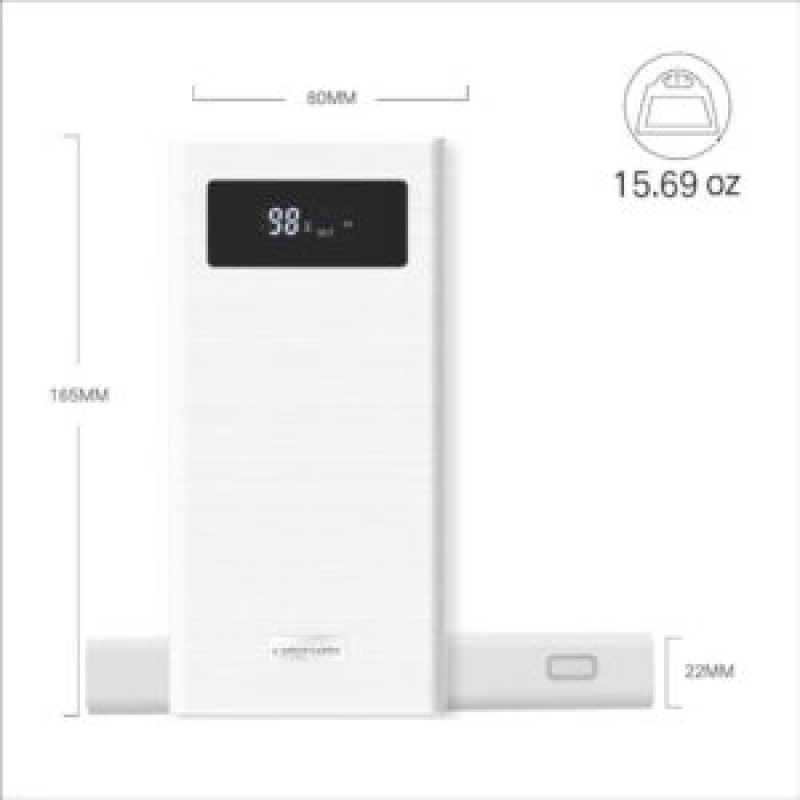 Besiter Power Bank 20000 mAh Quick Charge 3.0 Portable Power Bank Dual USB