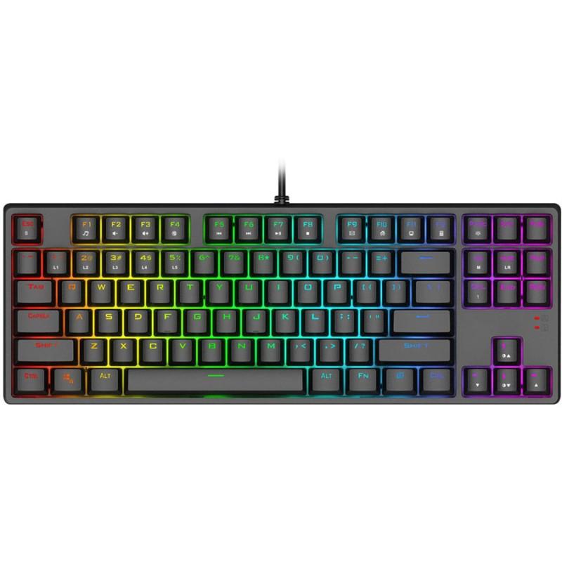1stPlayer DK5.0 Lite Tenkeyless Mechanical Gaming Keyboard, Brown, RGB