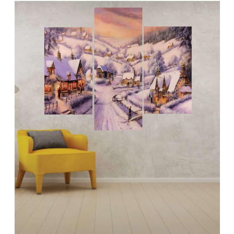Wall Frames 3 Pieces Set Canvas – Digitally Printed Wall Canvas TJ-13