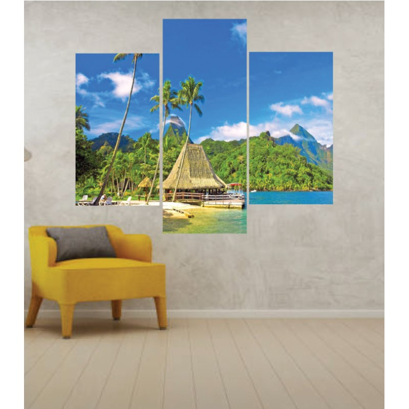Wall Frames 3 Pieces Set Canvas – Digitally Printed Wall Canvas TJ-203