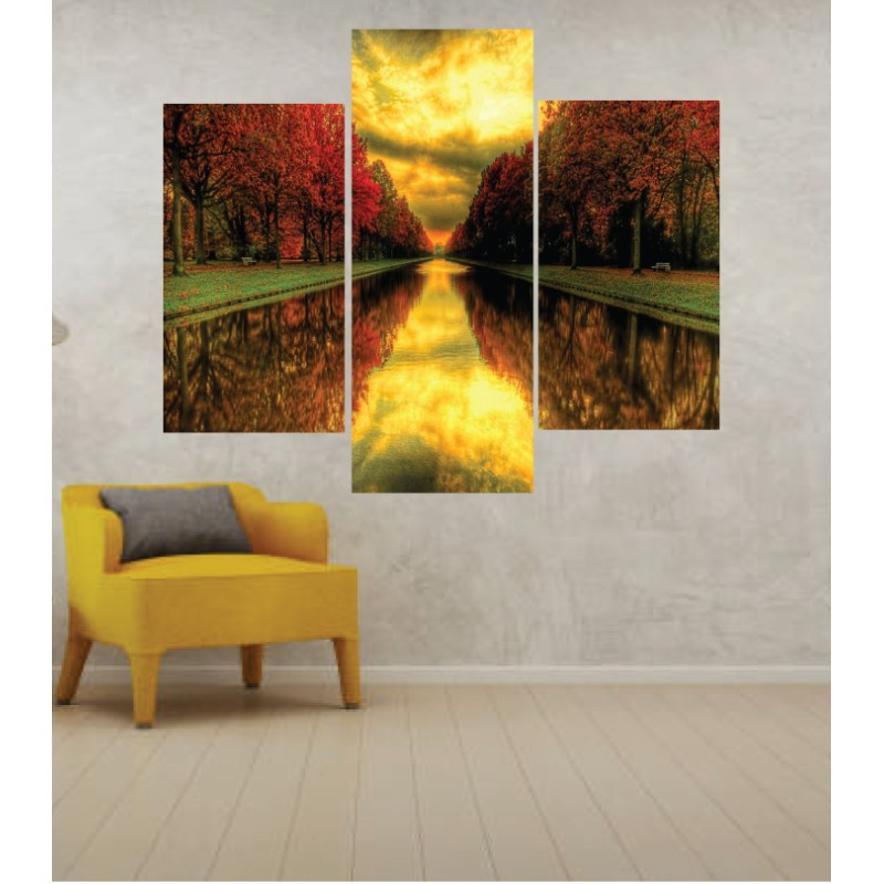 Wall Frames 3 Pieces Set Canvas – Digitally Printed Wall Canvas TJ-225