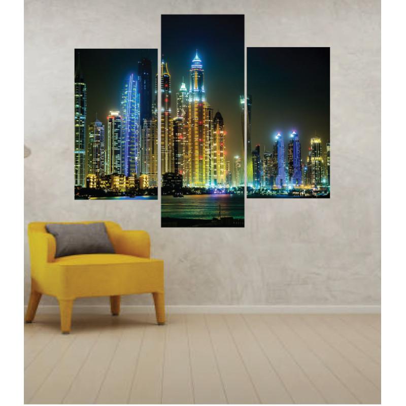 Wall Frames 3 Pieces Set Canvas – Digitally Printed Wall Canvas TJ-248
