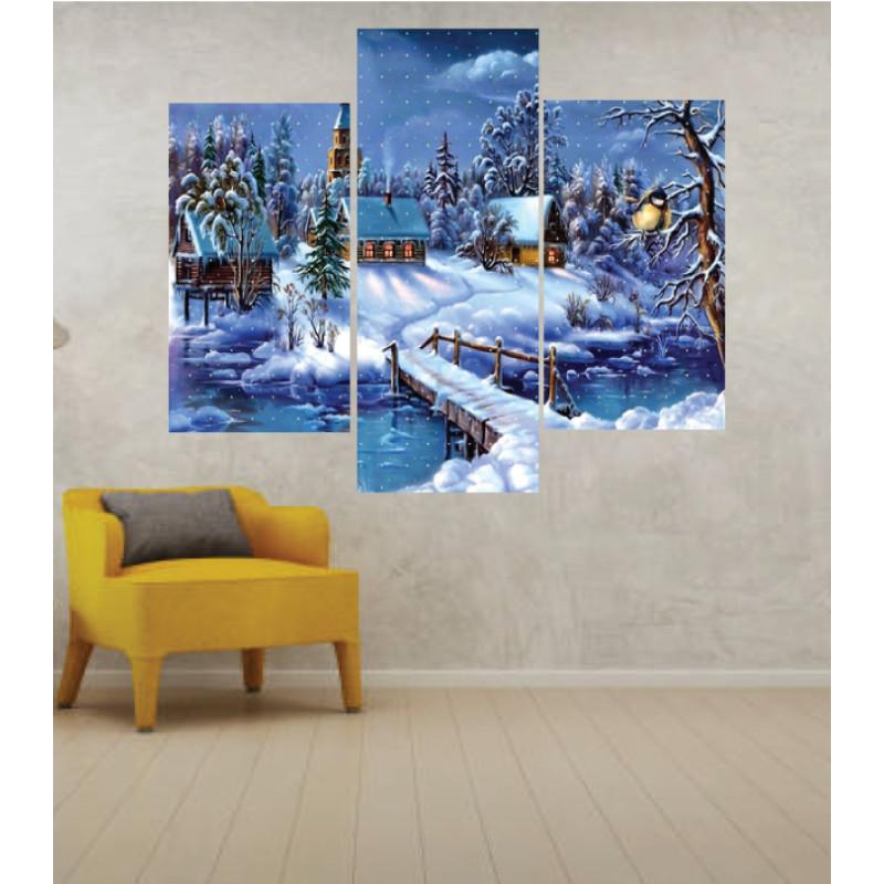Wall Frames 3 Pieces Set Canvas – Digitally Printed Wall Canvas TJ-11