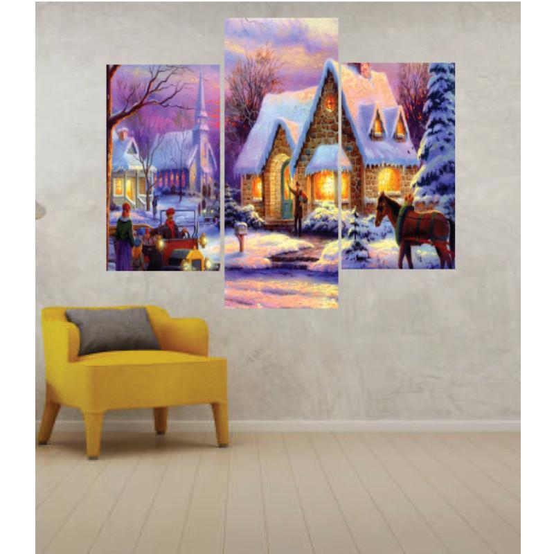 Wall Frames 3 Pieces Set Canvas – Digitally Printed Wall Canvas TJ-14