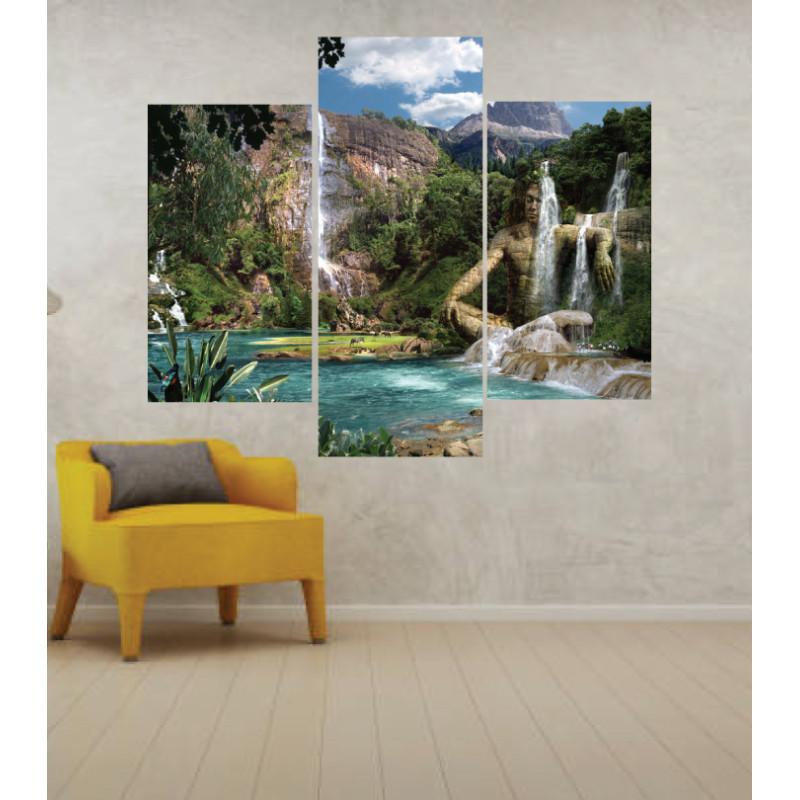 Wall Frames 3 Pieces Set Canvas – Digitally Printed Wall Canvas TJ-206