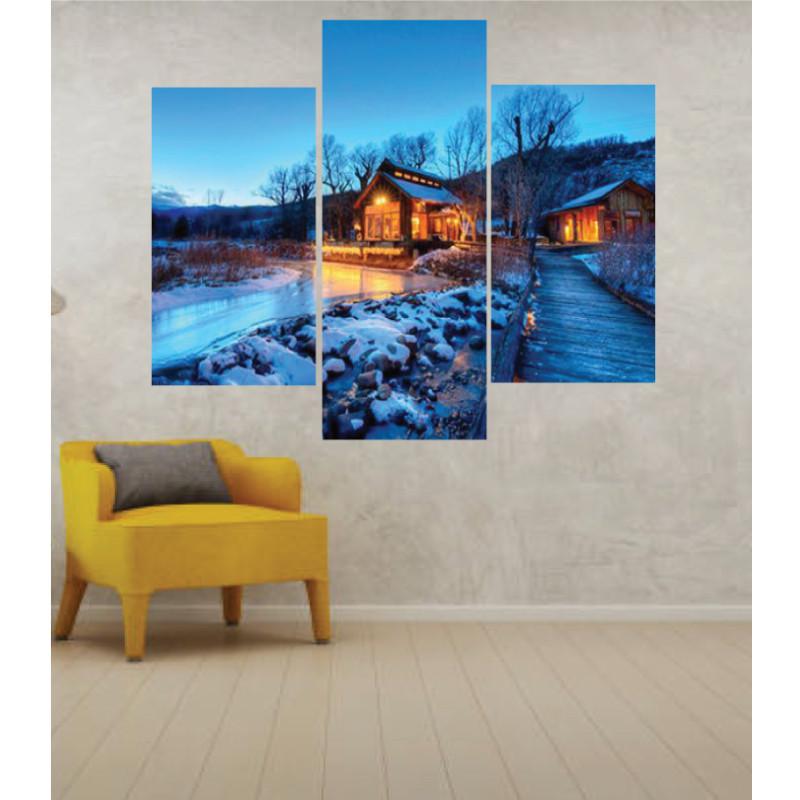 Wall Frames 3 Pieces Set Canvas – Digitally Printed Wall Canvas TJ-22