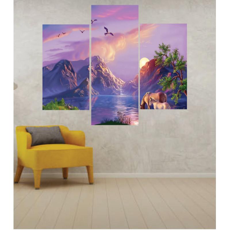 Wall Frames 3 Pieces Set Canvas – Digitally Printed Wall Canvas TJ-253