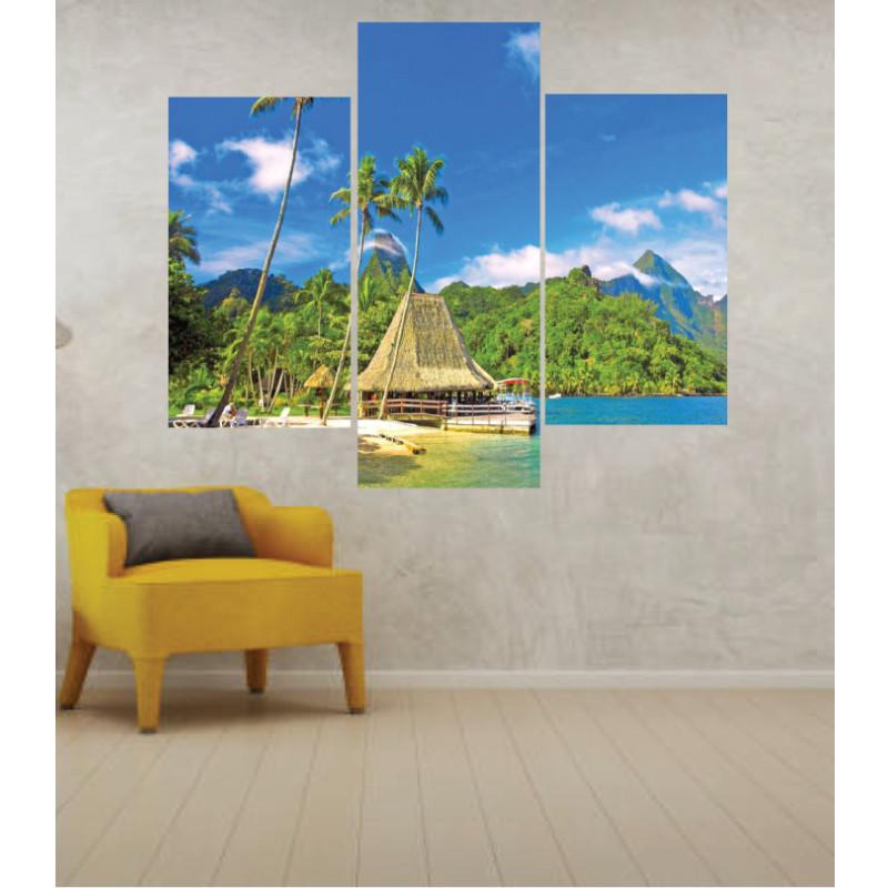 Wall Frames 3 Pieces Set Canvas – Digitally Printed Wall Canvas TJ-28