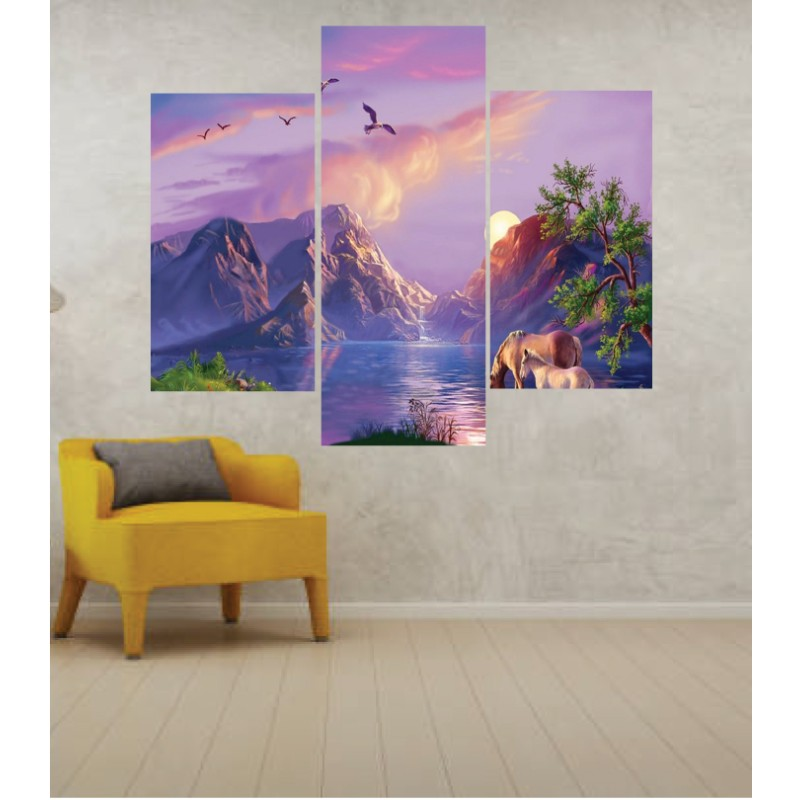 Wall Frames 3 Pieces Set Canvas – Digitally Printed Wall Canvas TJ-40