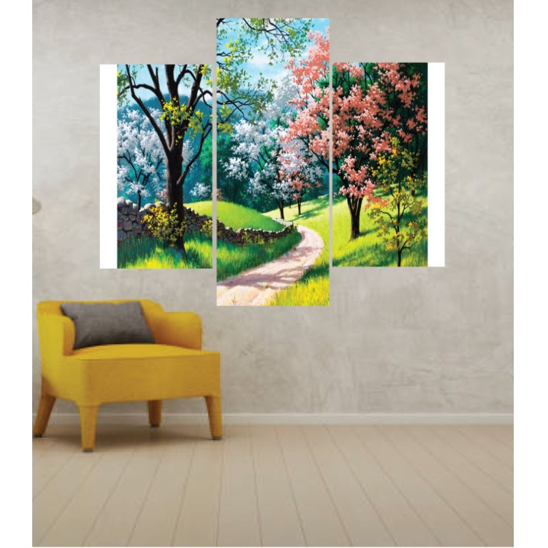 Wall Frames 3 Pieces Set Canvas – Digitally Printed Wall Canvas TJ-52