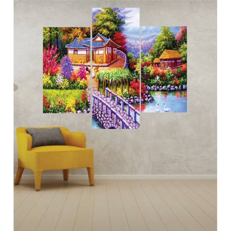 Wall Frames 3 Pieces Set Canvas – Digitally Printed Wall Canvas TJ-53