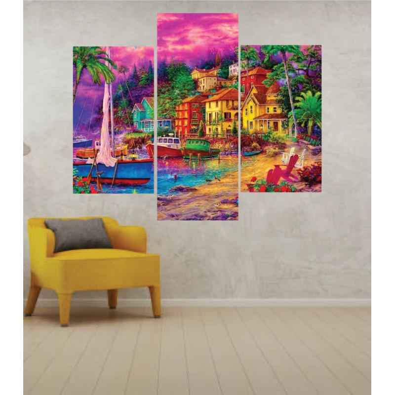 Wall Frames 3 Pieces Set Canvas – Digitally Printed Wall Canvas TJ-54