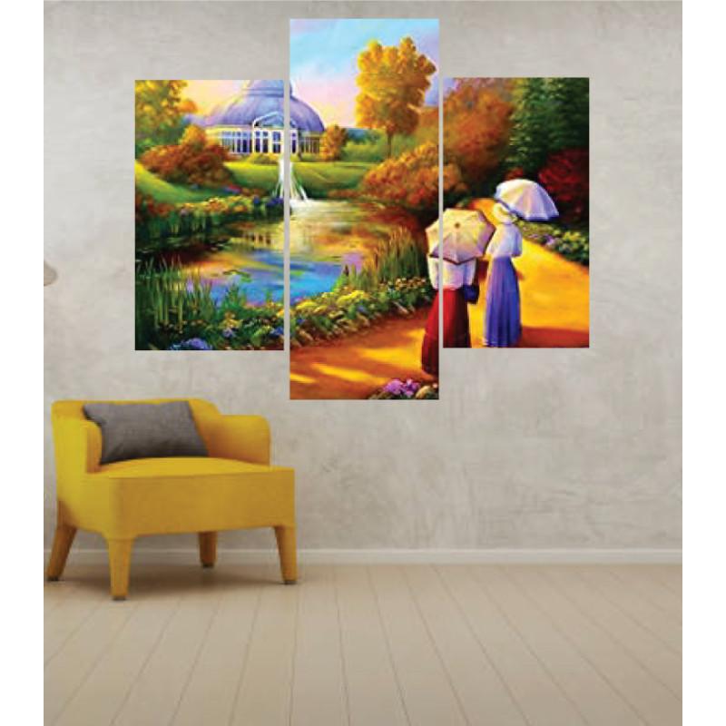 Wall Frames 3 Pieces Set Canvas – Digitally Printed Wall Canvas TJ-55