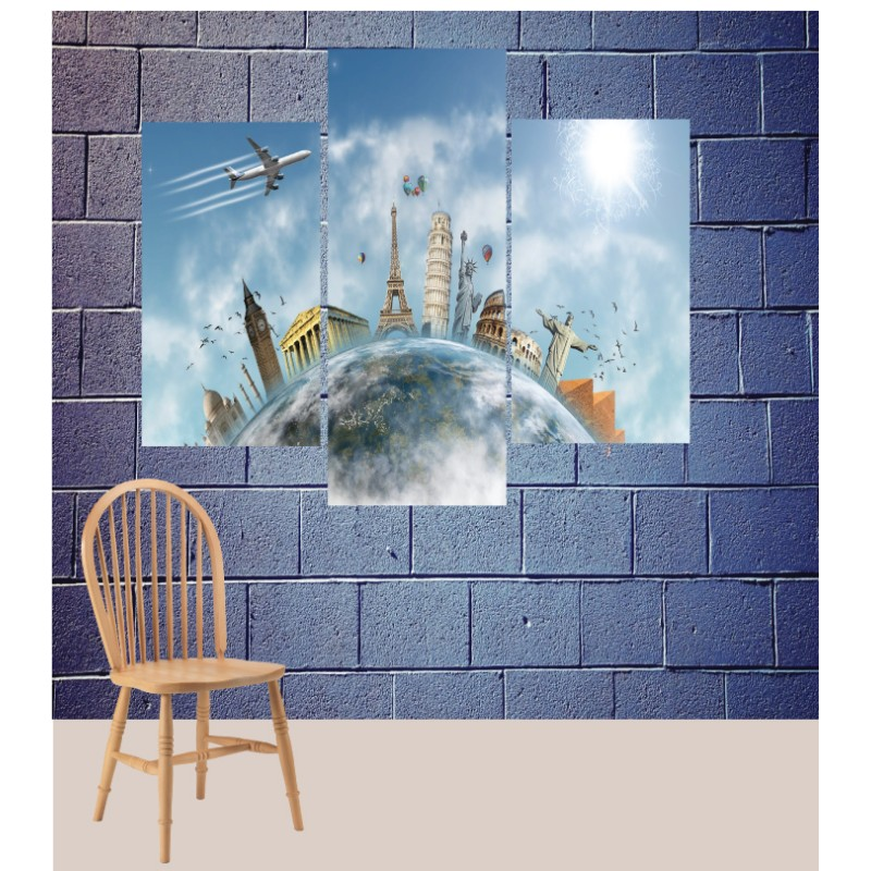 Wall Frames 3 Pieces Set Canvas – Digitally Printed Wall Canvas TJ-97