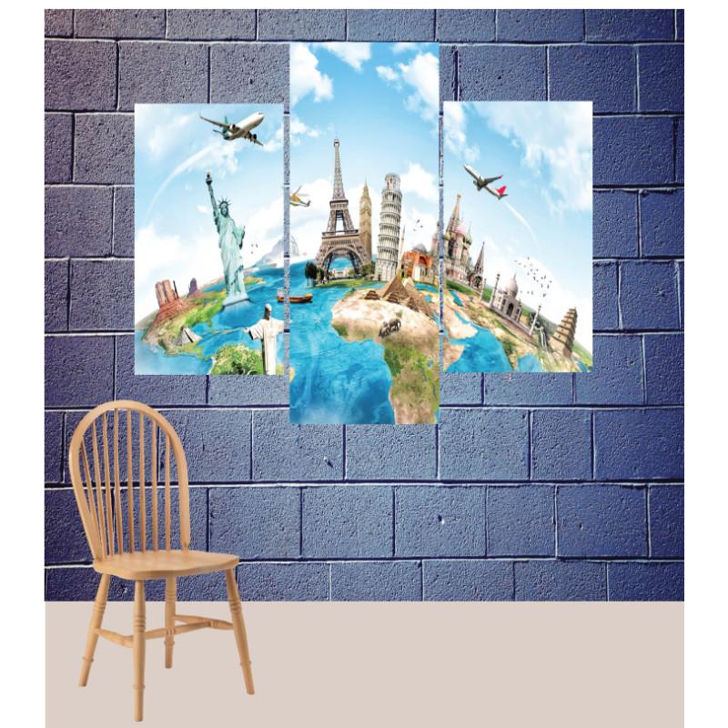 Wall Frames 3 Pieces Set Canvas – Digitally Printed Wall Canvas TJ-98